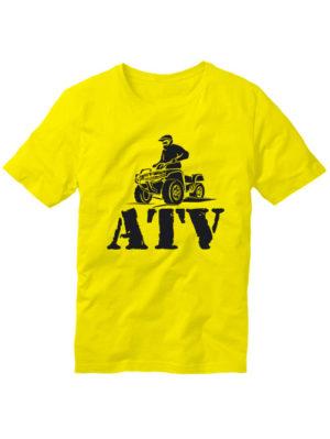 Футболка ATV желтая