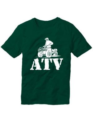 Футболка ATV темно зеленая