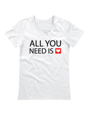 Футболка All you need белая