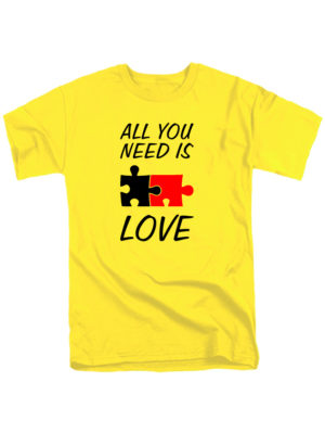 Футболка All you need is love желтая