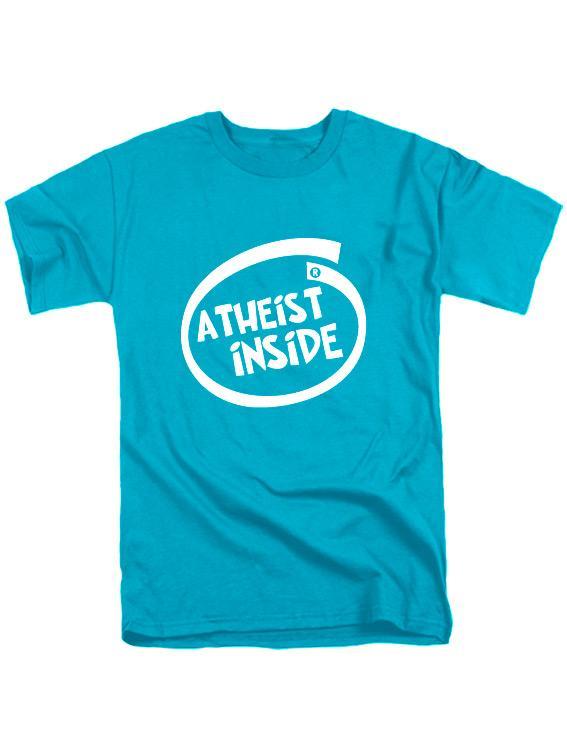 Футболка Atheist inside бирюзовая