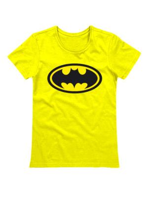 Футболка Batman женская желтая