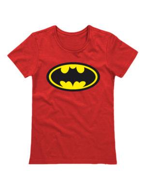 Футболка Batman женская красная
