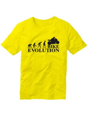 Футболка Bike evolution желтая