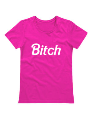 Футболка Bitch розовая