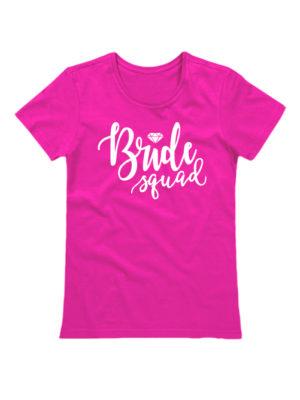Футболка Bride Squad розовая