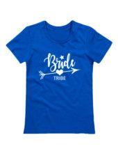Футболка Bride tribe синяя