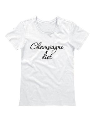 Футболка Champagne diet белая