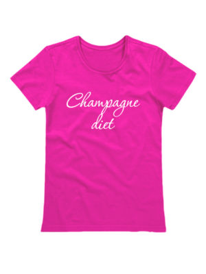 Футболка Champagne diet розовая
