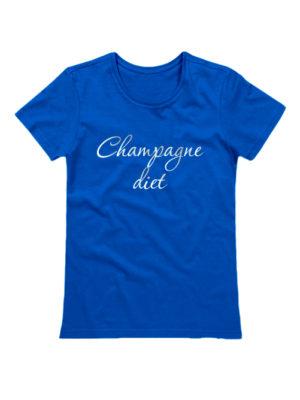Футболка Champagne diet синяя