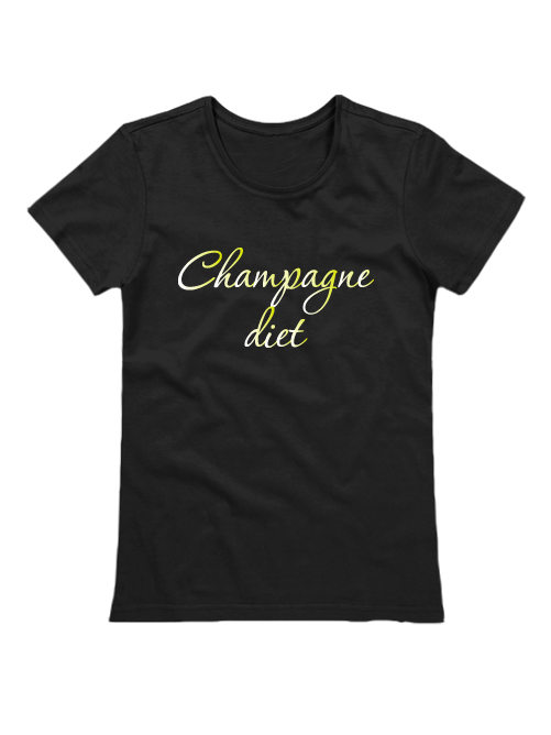 Футболка Champagne diet черная