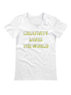 Футболка Creativity saves the world белая