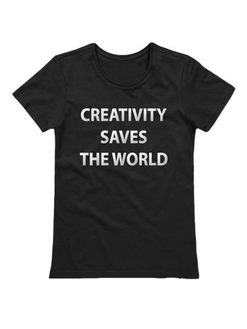 Футболка Creativity saves the world черная