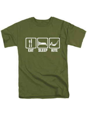 Футболка Eat-Sleep-Kite хаки