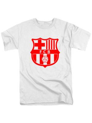 Футболка FC Barcelona белая