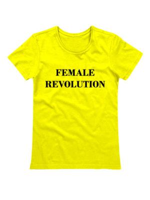 Футболка Female revolution желтая