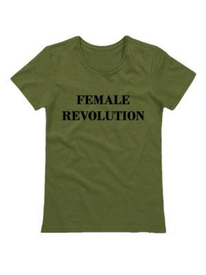 Футболка Female revolution хаки