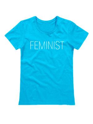 Футболка Feminist голубая