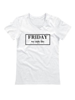 Футболка Friday женская белая