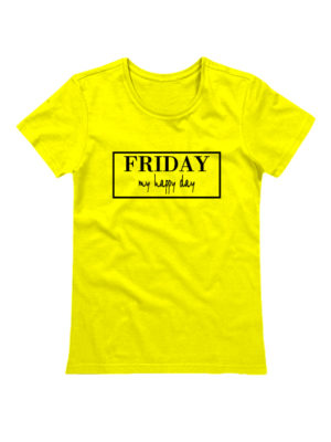 Футболка Friday женская желтая