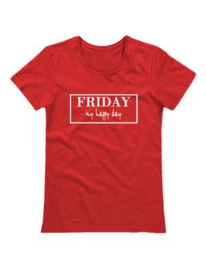 Футболка Friday женская красная