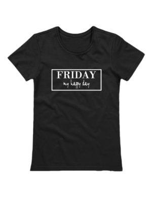 Футболка Friday женская черная
