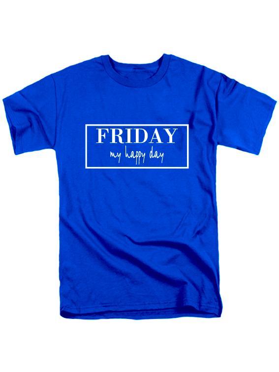 Футболка Friday синяя