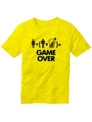 Футболка Game over мужская желтая