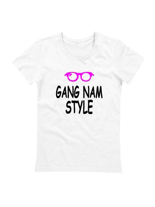 Футболка Gangnam style женская белая