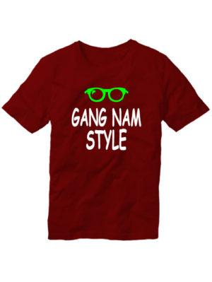 Футболка Gangnam style мужская бордовая