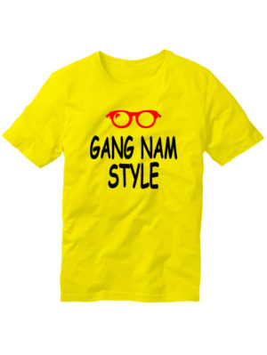Футболка Gangnam style мужская желтая