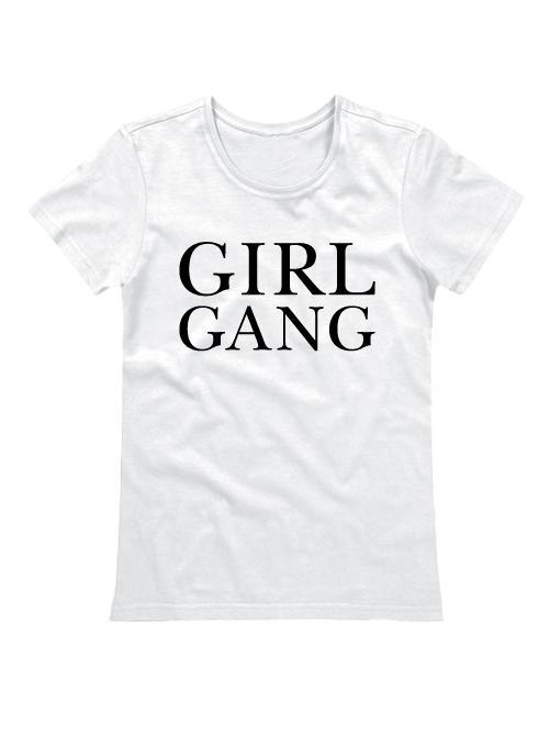 Футболка Girl gang белая