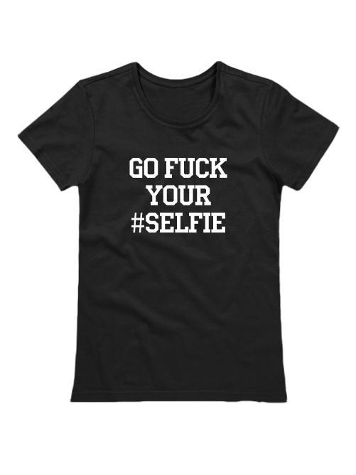 Футболка Go fuck your selfie женская черная