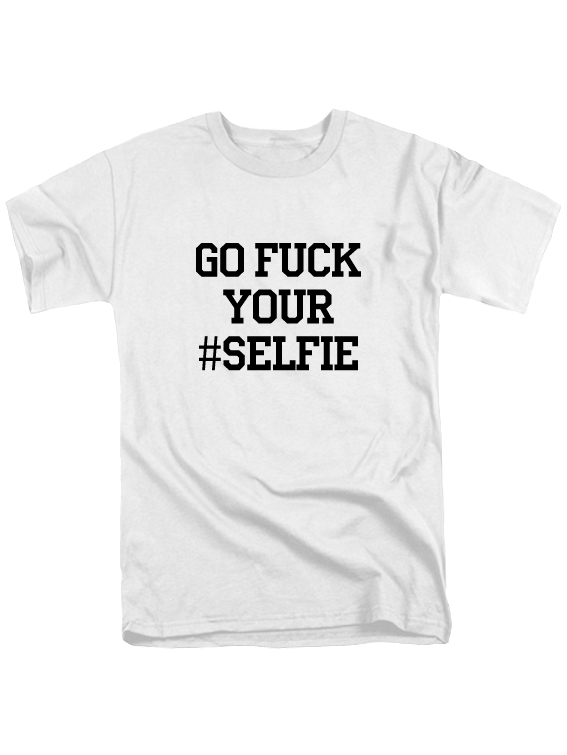 Футболка Go fuck your selfie белая