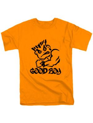 Футболка Good boy оранжевая