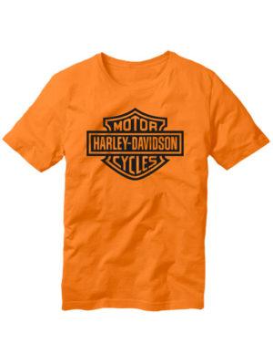 Футболка Harley-Davidson оранжевая