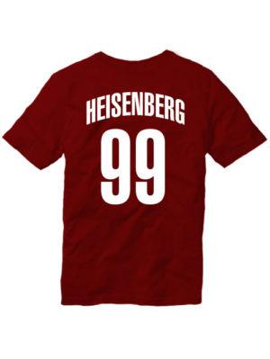 Футболка Heisenberg 99 бордовая