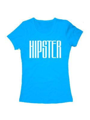 Футболка Hipster женская голубая