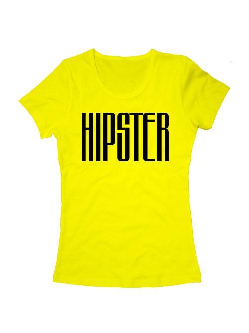 Футболка Hipster женская желтая