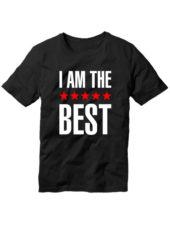 Футболка I am the best черная
