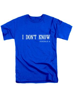 Футболка I dоn't know синяя