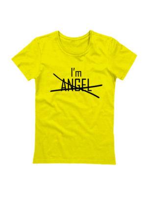 Футболка I'm angel желтая