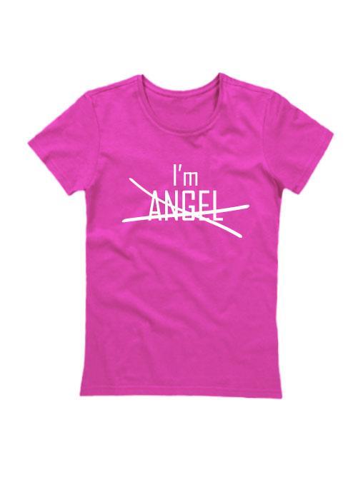 Футболка I'm angel розовая