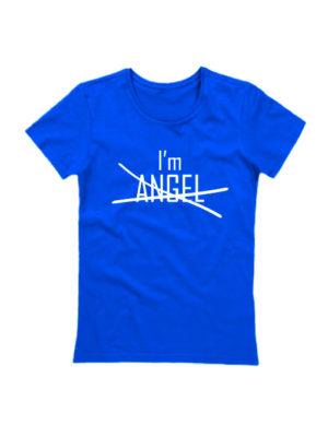 Футболка I'm angel синяя