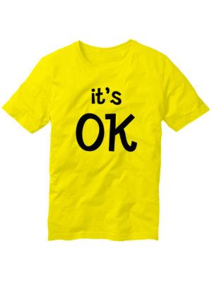 Футболка It's OK желтая