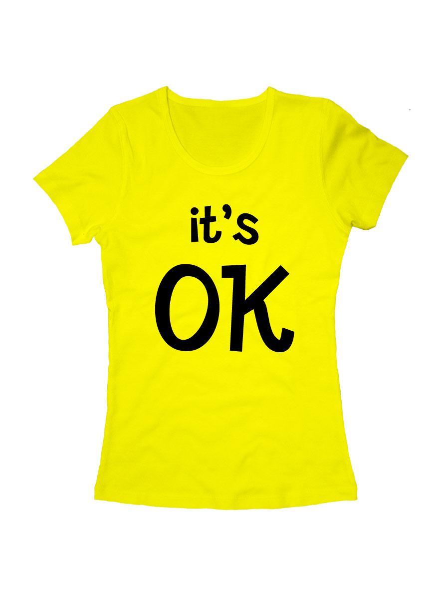 Футболка It's OK женская желтая