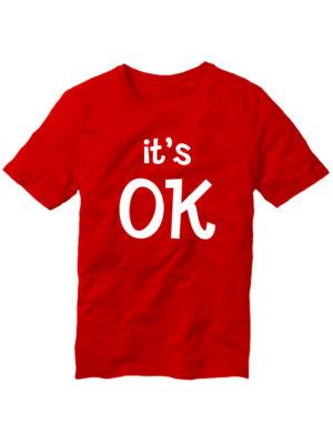 Футболка It's OK красная