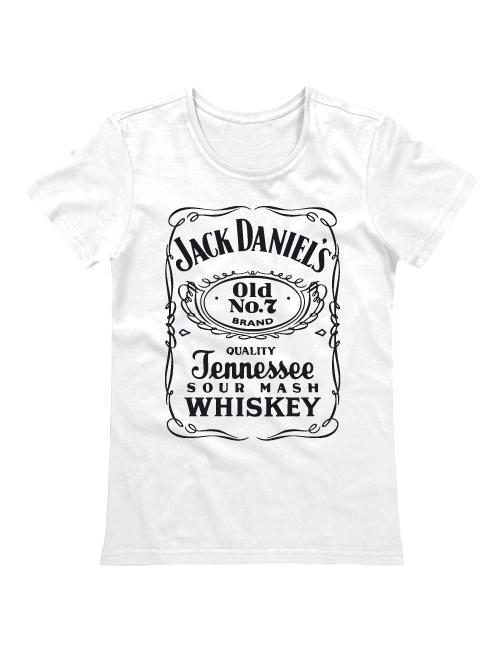 Футболка Jack Daniels женская белая