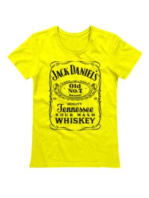 Футболка Jack Daniels женская желтая