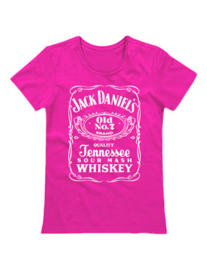Футболка Jack Daniels женская розовая